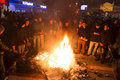 Protests in turkey istanbul march people create barricades and fire kadikoy to protest after berkin elvan who was years old died Royalty Free Stock Photo