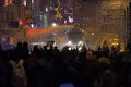 Protests in turkey istanbul march police intervene with water cannon kadikoy during protest after berkin elvan who was years old Royalty Free Stock Image
