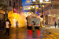 Protests in turkey riot control vehicle attack istiklal street on july istanbul people gathered and protest for berkin elvan who Stock Image