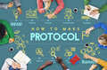 Protocol Networking Data Proper Protection Safety Concept Royalty Free Stock Photo