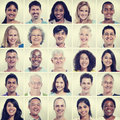 Protrait of Group Diversity People Community Happiness Concept Royalty Free Stock Photo