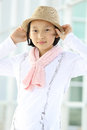 Protrait yong girl in the outside Royalty Free Stock Photography