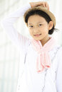Protrait yong girl in the outside Royalty Free Stock Photo