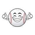 Proud face baseball cartoon character