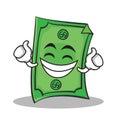 Proud face Dollar character cartoon style