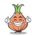 Proud face onion character cartoon