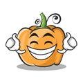 Proud face pumpkin character cartoon style