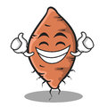 Proud face yam character cartoon style