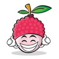 Proud lychee cartoon character style