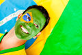 Proud man from Brazil Royalty Free Stock Image