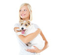 Proud of my pooch Royalty Free Stock Image