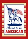 Proud to be American Poster Greeting Card Stock Photo