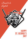Proud To Be English Happy St George Greeting Card Royalty Free Stock Image