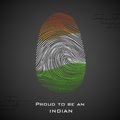 Proud to be an indian illustration of thumbprint in color showing india Royalty Free Stock Images