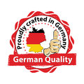 Proudly crafted in Germany, German quality Royalty Free Stock Photo