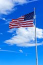 Proudly Waving American Flag Royalty Free Stock Photo