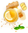 Proven Health Benefits of Ginger Can Treat Many Forms of Nausea, Especially Morning Sickness? Ginger Contains a Substance Prevent Royalty Free Stock Photo