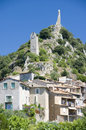 Provence town landscape Royalty Free Stock Photos