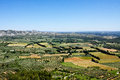 Provence view of the french countryside from les baux de Royalty Free Stock Images