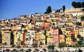 Provence village of menton on the french riviera colorful houses in in south france near monaco Stock Photos