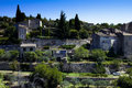 Provence village view of gordes medieval in the region of france Royalty Free Stock Photography