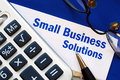 Provide financial solutions to Small Business Royalty Free Stock Images