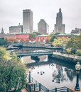 Providence rhode island city skyline in october 2017 Royalty Free Stock Photo