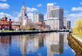 Providence rhode island skyline was one of the first cities established in the united states Royalty Free Stock Images