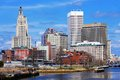 Providence rhode island skyline was one of the first cities established in the united states Stock Images