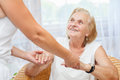 Providing care for elderly Royalty Free Stock Photo