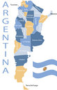 Provinces of Argentina . Royalty Free Stock Photography