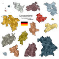 Provinces and districts of germany vector Stock Photos