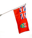 Provincial flag of ontario canada the before the canadian Stock Photography