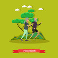 Provision for the elderly concept vector illustration in flat style