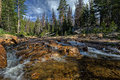 The Provo River off of highway 150 in Utah Royalty Free Stock Photo
