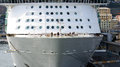 Prow of transatlantic in the port genoa italy Royalty Free Stock Photography