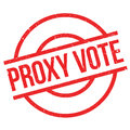 Proxy Vote rubber stamp Royalty Free Stock Photo