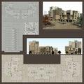 Proyecto arquitectónico Foto de archivo