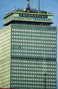Prudential building boston ma as seen from fenway park the in image taken color slide Stock Images