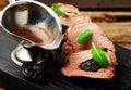 Prune-Stuffed Pork Fillet.selective focus Royalty Free Stock Photo