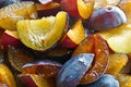 Prunes full frame of sliced fresh raw Royalty Free Stock Photography
