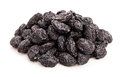Prunes group on white background Royalty Free Stock Photo