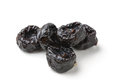 Prunes sweet isolated on white background Stock Photos