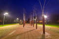 Pruszcz gdanski at night poland park pathway in Stock Images