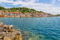 Prvic Luka Houses Royalty Free Stock Photo