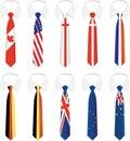 Przynależność państwowa 1 krawat Zdjęcia Stock