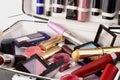 Przypadki makijaż Obrazy Royalty Free