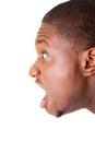 Przystojnej samiec screaming krzyczeć Zdjęcia Stock