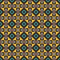 Pseudo african craft ethnic pattern Royalty Free Stock Photo
