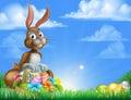 Påsk bunny egg hunt Arkivbilder